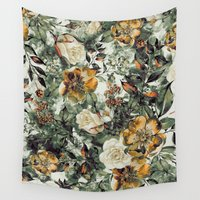 valentina Wall Tapestries featuring RPE FLORAL by RIZA PEKER