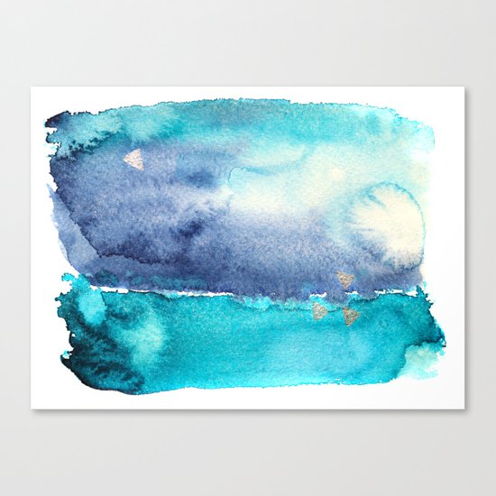 Vibrant horizon || watercolor Canvas Print