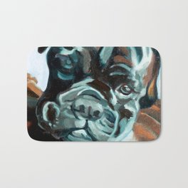 Smokey the Boxer Dog Bath Mat
