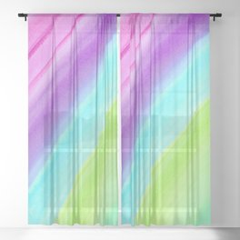 Colorful Princess Castle Sheer Curtain