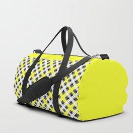 Combo black yellow plaid Duffle Bag