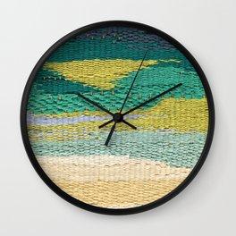 Green Weaving Wall Clock