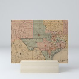 Houston Post map of the great Southwest (1880) Mini Art Print