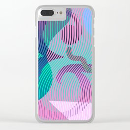 Moiré Ampersand Clear iPhone Case