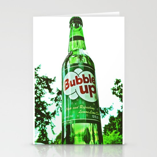 Refreshing Bubble Up soda Stationery Cards