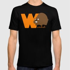 w for wombat MEDIUM Mens Fitted Tee Black
