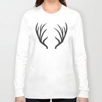 antlers Long Sleeve T-shirts featuring antlers by Amanda Nicole