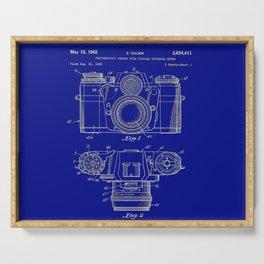 Vintage Camera Patent Blueprint Serving Tray