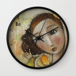 wisper words of wisdom girl Wall Clock