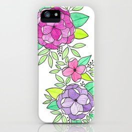 Peonies  Watercolor iPhone Case