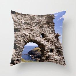 Tintagel Castle Gateway Throw Pillow