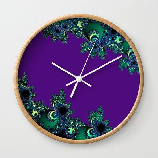 Asymmetrical Fractal 218 Wall Clock