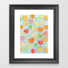 Juicy Hearts Framed Art Print