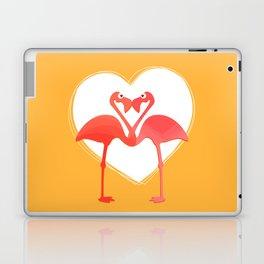 lovebirds - flamingos in love Laptop & iPad Skin