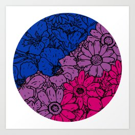 Bisexual flowers Art Print