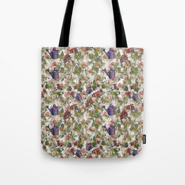 Floral with Watering Can Tote Bag