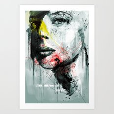 her name is nina Art Print
