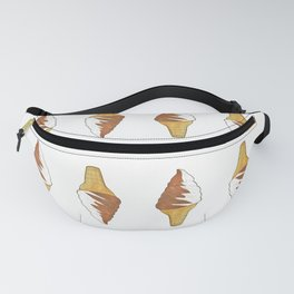 Watercolor Ice Cream Cone Fanny Pack