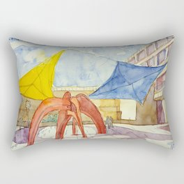 CCB. Sculpture in the pateo. Art Centre. Rectangular Pillow
