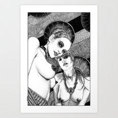 asc 670 - Les gardiennes de la nuit (Come with us) Art Print