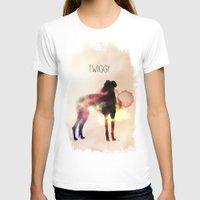greyhound T-shirts featuring Twiggy greyhound by Ingrid Winkler