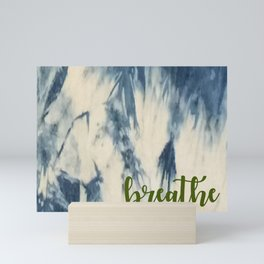 Breathe Indigo Mini Art Print