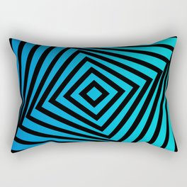 Squares twirling from the Center. Optical Illusion of Perspective bu Squares twirling Rectangular Pillow
