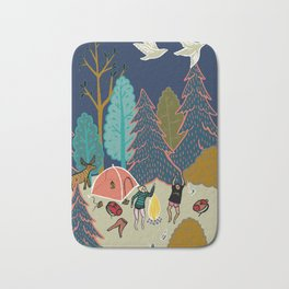Welcome to Our Place in the Woods Bath Mat