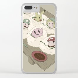 SushiSmashBros Clear iPhone Case
