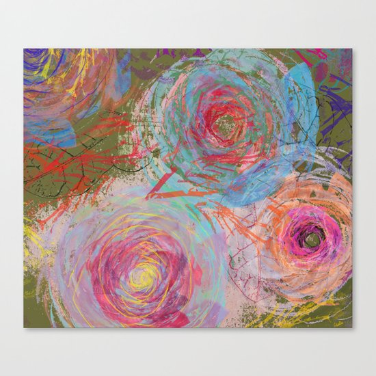 Floral abstract(38) Canvas Print