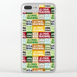 Global Warming Hoax Clear iPhone Case