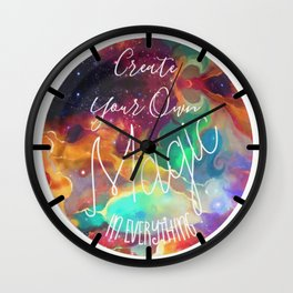 Create Your Own Magic in Everything Wall Clock