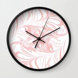 Original Marble Texture - Rose Gold Wall Clock