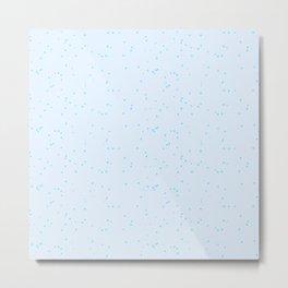 Sky Blue Shambolic Bubbles Metal Print