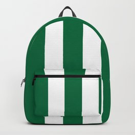 Cadmium green - solid color - white vertical lines pattern Backpack