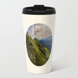 Green Musical Mountains Round Photo Frame Travel Mug