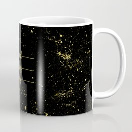 TEXT ART GOLD Good vibes only Coffee Mug
