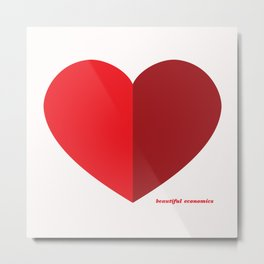 Beautiful Economics Heart Metal Print