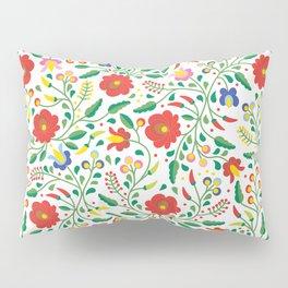 Hungarian Matyo Embroidery Pillow Sham