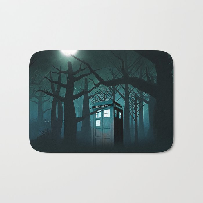 Tardis in the Forest of The Night Bath Mat