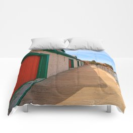 Basin Head Beach Boardwalk Comforters