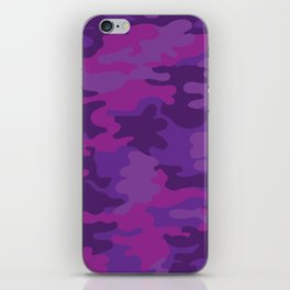Purple Camo Print iPhone Skin