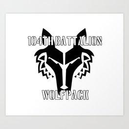 104th Battalion Wolfpack Art Print