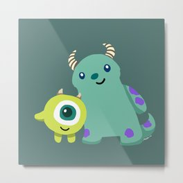 Mike and Sulley Metal Print