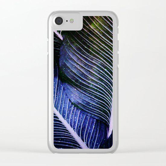 galactic leaves Clear iPhone Case