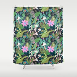 Beetle Pattern Shower Curtain