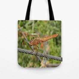 Female Red Skimmer Dragonfly Tote Bag