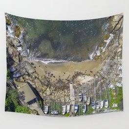 Small Fishing Boats on Sydney Beach Wall Tapestry