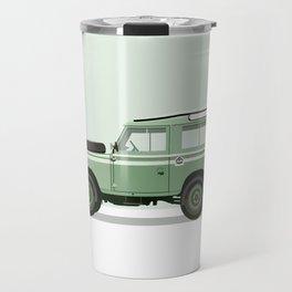 Car illustration - land rover defender Travel Mug