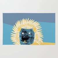 leon Area & Throw Rugs featuring Lion leon by yael frankel
